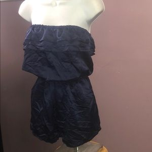 Silky Royal Blue Romper